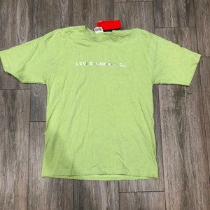 Levi's red tab Graphic Green Shirt NWT